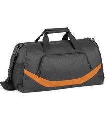 bolsa esportiva premium line topget preto e laranja