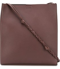 jil sander braided strap shoulder bag - brown