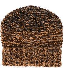 0711 denali hand-woven beanie hat - brown