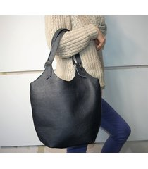 skórzana czarna torba