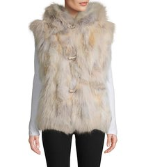 made for generation coyote fur hooded vest