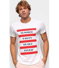 camiseta colcci básica summer party beach masculina - masculino