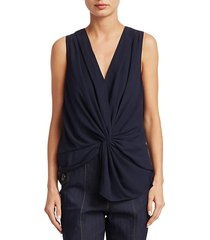 abby sleeveless twist front top