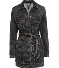 giacca di jeans oversize con cintura (nero) - rainbow