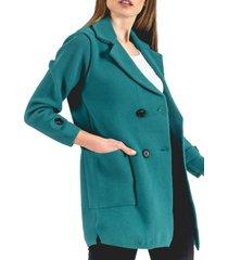 abrigo donna turquesa guinda