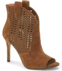 jessica simpson jexell peep toe western booties women's shoes