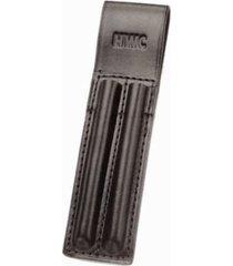 teacher lab tech mechanic nerd black leather 2 pen pencil pants belt holder case