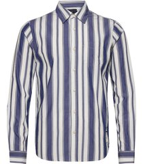 longsleeve shirt in classic stripes overhemd casual blauw scotch & soda