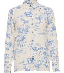 nuarzilla shirt långärmad skjorta blå nümph