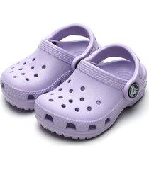 babuche crocs infantil classic clog lilás