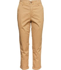 v-girlfriend khaki byxa med raka ben beige gap