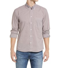 men's billy reid tuscumbia houndstooth button-down shirt, size xx-large - purple