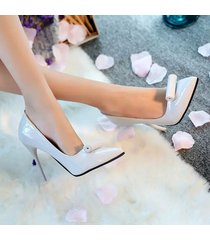 pp341 elegant pointy pumps in candy color with rolling top,us size 5.5-8, gray