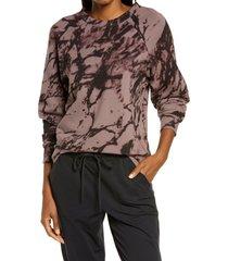 women's zella jamie ink print crewneck sweatshirt