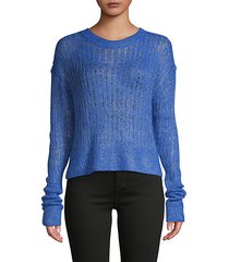 long-sleeve metallic sweater