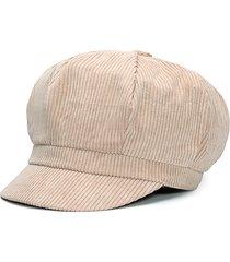 uomo donne vintage corduroy cappello ottagonale spessore caldo cappello pittore