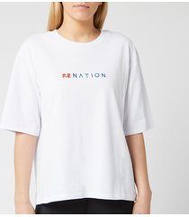 p.e nation women's lineal success short sleeve t-shirt - white - l - white