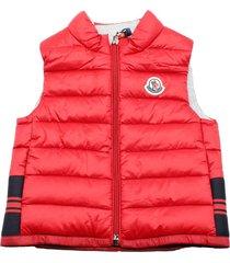 moncler 100 gram lightweight basileus sleeveless vest with lettering on the back