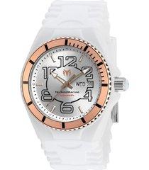 reloj technomarine tm-115145 blanco silicona