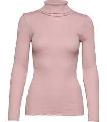silk t-shirt regular ls roller neck turtleneck coltrui roze rosemunde