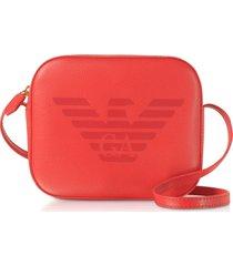 emporio armani eagle embossed shoulder bag