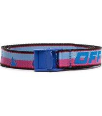 off-white mini industrial belt - blue