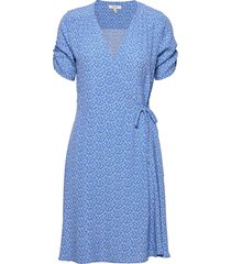 byflaminia wrap dress - dresses wrap dresses blå b.young
