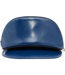 burberry zip pocket-detail visor hat - blue