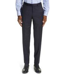 men's ermenegildo zegna micronsphere classic fit wool dress pants, size 50 eu - blue