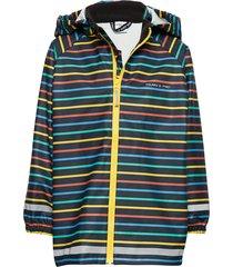 rain jacket stripe preschool outerwear rainwear jackets blå polarn o. pyret