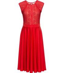 abito in maglina con pizzo (rosso) - bodyflirt boutique