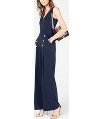 inc button wide-leg jumpsuit, created or macy's
