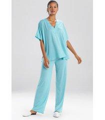 congo dolman pajamas, women's, blue, size xl, n natori
