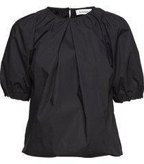 rodebjer nahua cotton blouses short-sleeved svart rodebjer