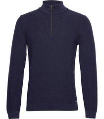 steffen knitwear half zip jumpers blå brax