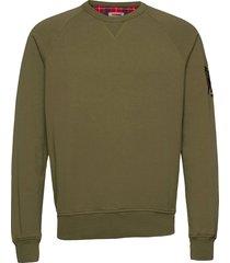 summer fleece crewneck sweat-shirt tröja grön baracuta