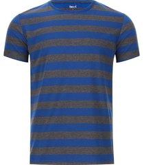 camiseta a rayas dos colores color azul, talla s