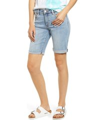 women's made in blue denim bermuda shorts