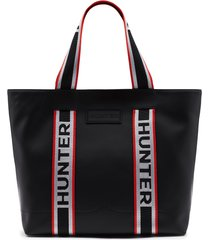original rubberized leather east-west tote bag