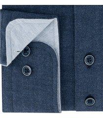 sleeve7 heren overhemd navy herringbone modern fit