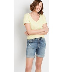silver jeans co.® womens sure thing medium high rise 6.5in shorts blue denim - maurices