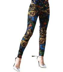 baroque-print leggings