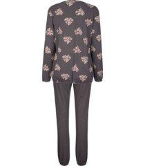 pyjamas simone antracitgrå::ljusrosa