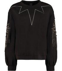 pinko graziano embellished crew-neck sweatshirt