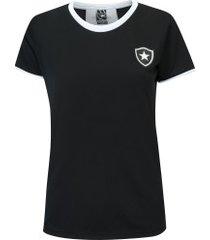 camiseta do botafogo bull - feminina - preto