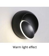 creativo sencillo dormitorio moderno lámpara de noche la sala de estar escalera pasillo de la lámpara de pared led redonda media luna - cálida luz cálida negro +