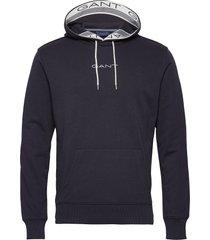 d1. 13 stripes sweat hoodie hoodie trui blauw gant