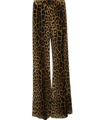 moschino leopard print trousers