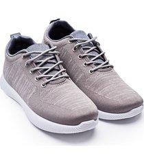 tenis hombre gris jaspe color gris, talla 39