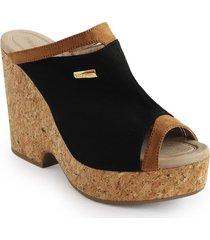 calzado dama tacon 5 1/2 negro 742b11negro mujer